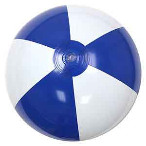 16'' Blue & White Beach Balls