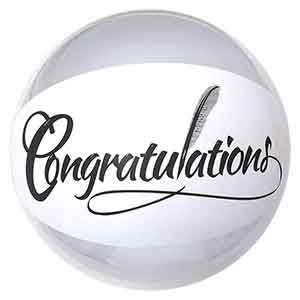 20'' Congratulations Beach Ball
