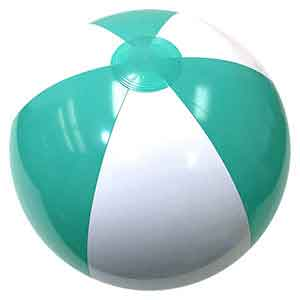 20'' Hitched Blue & White Beach Balls
