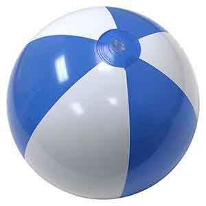 16'' Light Blue & White Beach Balls