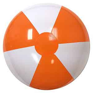 20'' Orange & White Beach Balls