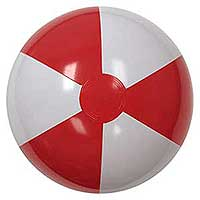 16'' Red & White Beach Balls