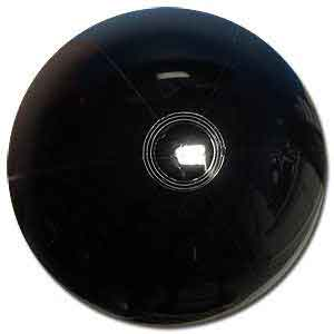 20'' Solid Black Beach Balls
