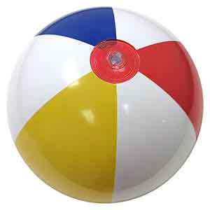 20'' Traditional Red Dot Beach Balls