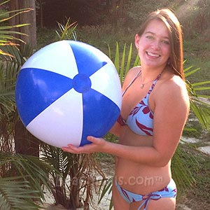 24'' Blue & White Beach Balls