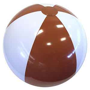 24'' Brown & White Beach Balls
