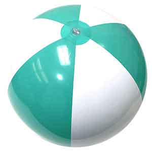 24'' Hitched Blue & White Beach Balls