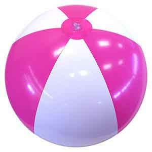24'' Hot Pink & White Beach Balls