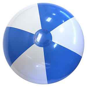 24'' Light Blue & White Beach Balls