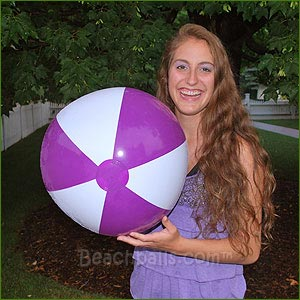 24'' Purple & White Beach Balls