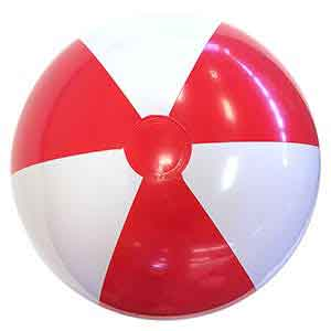 24'' Red & White Beach Balls