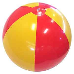 24'' Red & Yellow Beach Balls