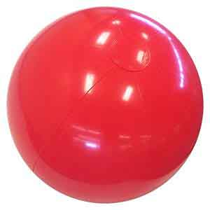 24'' Solid Red Beach Balls