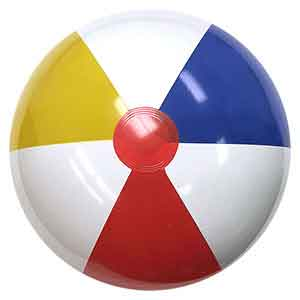 24'' Traditional Red Dot Beach Balls