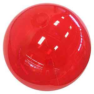 24'' Translucent Red Beach Balls