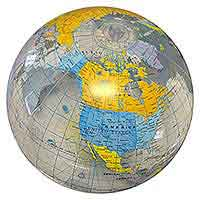 24'' World Globe Clear Ocean Beach Balls