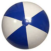 36'' Blue & White Beach Balls