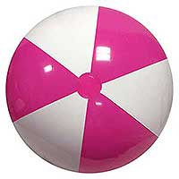 36'' Hot Pink & White Beach Balls