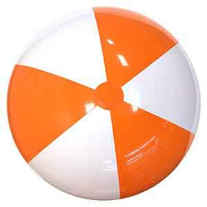 36'' Orange & White Beach Balls