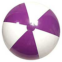 36'' Purple & White Beach Balls