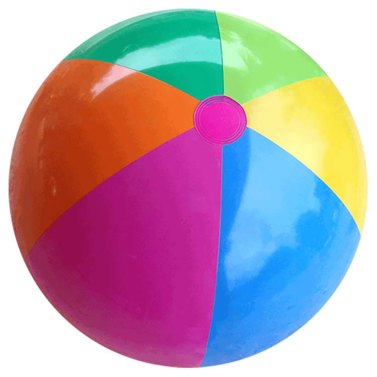 Largest Selection of Beach Balls - 36-Inch Rainbow Beach Balls