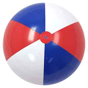 36'' Red White & Blue Beach Balls