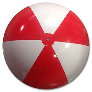36'' Red & White Beach Balls