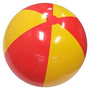 36'' Red & Yellow Beach Balls