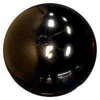 36'' Solid Black Beach Balls