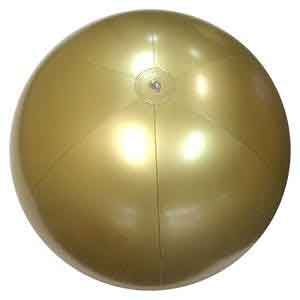 36'' Solid Gold Beach Balls