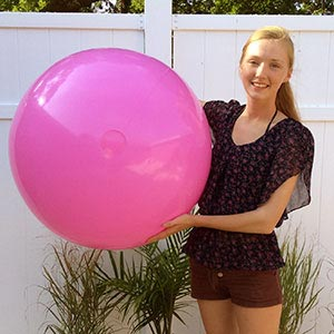 36'' Solid Pink Beach Balls