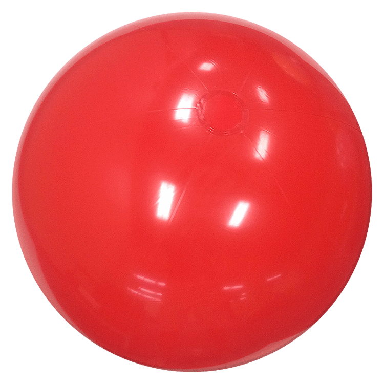 Beach Balls From Small To Giants 36 Inch Solid Red Beach
