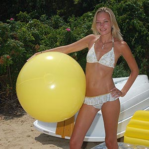 36'' Solid Yellow Beach Balls