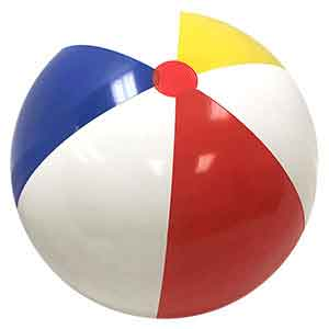 48'' Traditional Red Dot Beach Balls