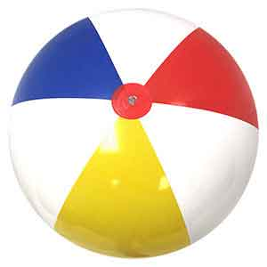 36'' Traditional Red Dot Beach Balls