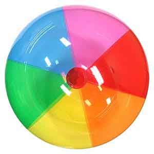 36'' Translucent Rainbow Beach Balls