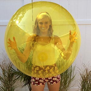 36'' Translucent Yellow Beach Balls