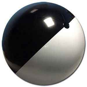 36'' Black & White Moon Beach Balls