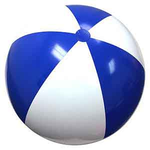 48'' Blue & White Beach Balls
