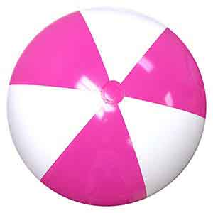 48'' Hot Pink & White Beach Balls