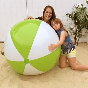 48'' Lime Green & White Beach Balls