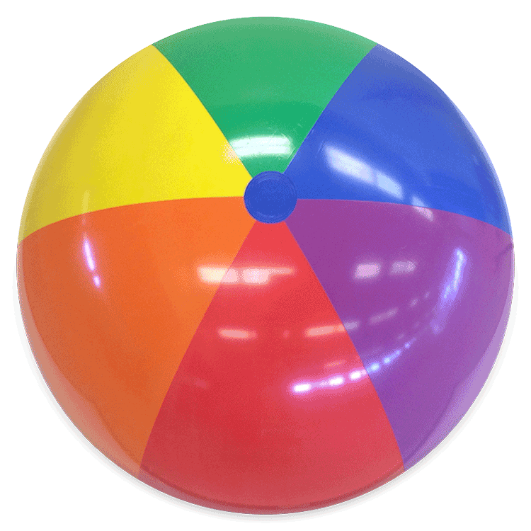 Beach Balls From Small To Giants 48 Inch Rainbow Bright