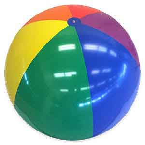 48'' Rainbow Bright Beach Balls