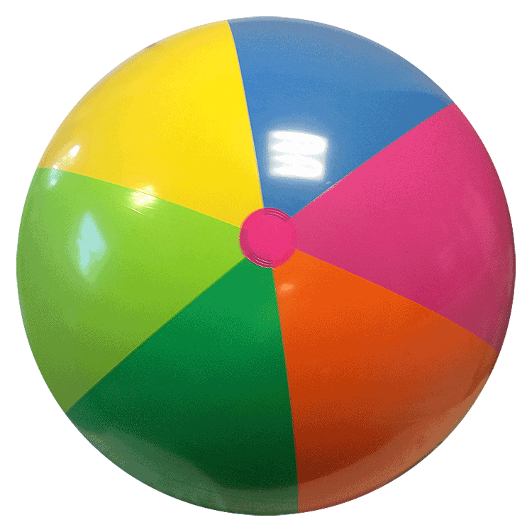 Largest Selection of Beach Balls - 48-Inch Rainbow Beach Balls