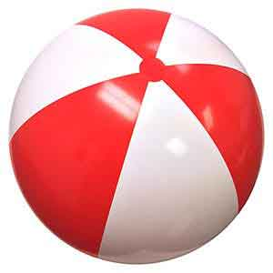 48'' Red & White Beach Balls
