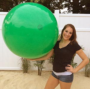 48'' Solid Green Beach Balls