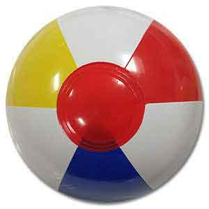 Clearance - 4'' Traditional Red Dot Beach Ball