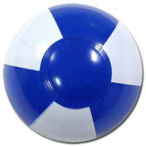 6'' Blue & White Beach Balls
