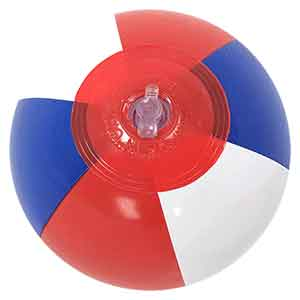 6'' Red White & Blue Beach Balls