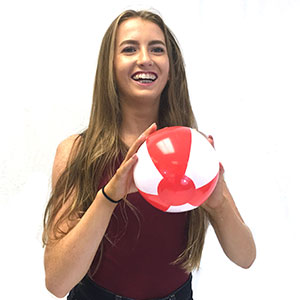 6'' Red & White Beach Balls